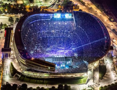 The Grateful Dead at Soldier Field during Fare Thee Well tour on July 5, 2015 aerial photo - GD50 - ©2015 David Oppenheimer - Performance Impressions photography archives - http://www.performanceimpressions.com